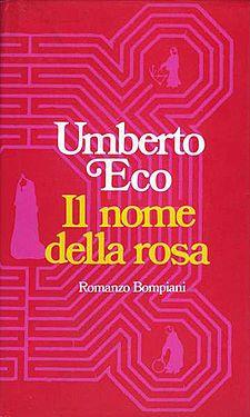 O Nome da Rosa, de Umberto Eco. Excelente escritor. Paz à sua alma...