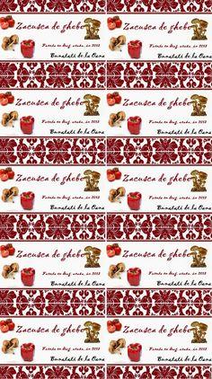Etichete borcane - zacusca de ghebe Jar Labels, Recipies, Food, Canning, Recipes, Eten, Meals, Cooking Recipes, Diet
