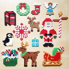 Christmas ornaments hama perler beads by Dorte Marker | Pärlor ...