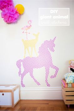 Awesome DIY giant animal wall stickers (with free printables) http://www.thislittlestreet.com/blog/2014/04/24/diy-giant-animal-wall-stickers-with-free-printable/