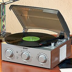 Pull out those old albums, because this compact unit lets you enjoy your favorites on vinyl once again!