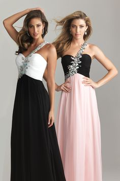Two Tone Bridesmaids Dress