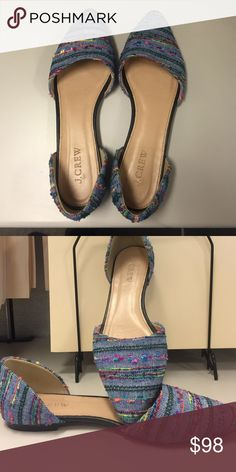 Jcrew orsay flats in multicolor denim Only Worn twice, excellent condition! J. Crew Shoes Flats & Loafers