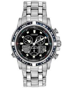 84b96f3ed63 Citizen Men s Analog-Digital Chronograph Sailhawk Eco-Drive Stainless Steel  Bracelet Watch 43mm JR4051
