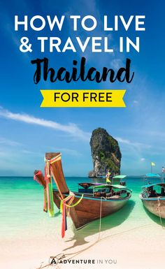 Thailand Travel | Looking for ways to stretch your money and travel Thailand for free? Here are a few of our top ways! From TEFL to volunteering, there are loads of ways to travel and live in Thailand cheaply!