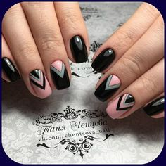Manicure Designs Classy Black White 66 Ideas For 2019 Classy Nails, Fancy Nails, Pink Nails, Cute Nails, Latest Nail Art, Trendy Nail Art, Square Nail Designs, Nail Art Designs, Fabulous Nails