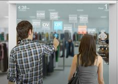 Interactive screens for shopping in stores