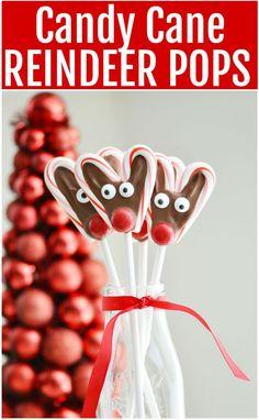 Candy Cane Reindeer Pops - Finding Zest