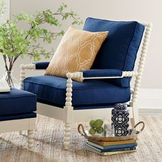 Love this Henderson Chair, has that Jenny Lind spindle thing going on that I'm obsessed with. You can also upgrade to down cushions!
