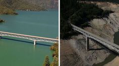 If you're not worried about the drought you should be. California Drought: Before and After Photos Show Falling Water Levels in Lakes and Reservoirs Save Our Earth, Save The Planet, The Real World, Ap Environmental Science, Environmental Change, Lake Oroville, California Drought, Third Grade Science, Spring Theme
