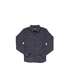 F&F Dobby Long Sleeve Shirt 5-6 yrs Navy