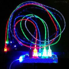 1 m de luz led micro usb cable cargador cable de sincronización de datos para samsung htc hauwei teléfono android tablet usb cable de carga Universal