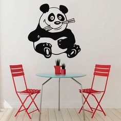 Wall Decals Vinyl Decal Sticker Art Murals Kitchen Decor Funny Panda Eating Kj90