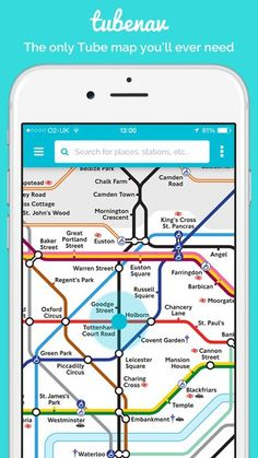 TubeNav app -- Foursquare venue locaitons, Tube routes, and even live updates on any disruptions to service.