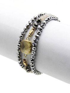 KiKi Stretch Wrap Bracelet in Greys – Shop LuLu