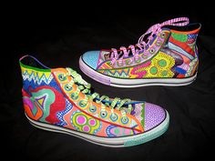 hand painted high tops. Wish I hadnt thrown out my old high tops now =[