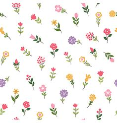 Floral seamless pattern vector 4383352 - by Lenlis on VectorStock®