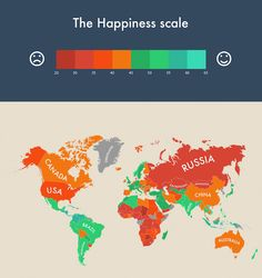 Infographic Visualizes Which Countries are the World's Happiest - My Modern Met