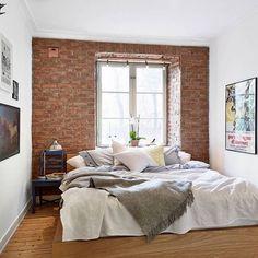inmyroomru instagram 19 2015 840 exposed brick bedroombrick