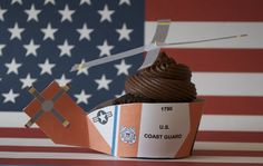 Coast Guard Helicopter Cupcake Wrapper Printable
