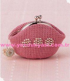 Crochet Clutch Bags, Crochet Coin Purse, Crochet Purse Patterns, Crochet Handbags, Crochet Purses, Clutch Purse, Bead Crochet, Knit Or Crochet, Crochet Accessories