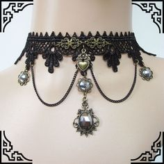 steampunk spain | mylove estilo gotico de encaje negro collar de cuello de encaje ...