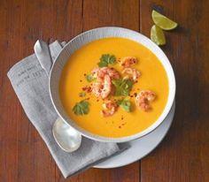 Kürbis-Kokos-Suppe mit Garnelen - [ESSEN UND TRINKEN]