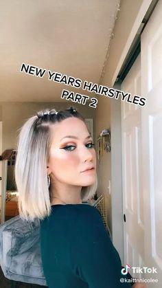 Hair Tutorials For Medium Hair, Medium Hair Styles, Short Hair Styles, Hair Tips Video, Hair Videos, Cute Hairstyles For Short Hair, Ideas For Short Hair, Short Hair Up, Gym Hairstyles