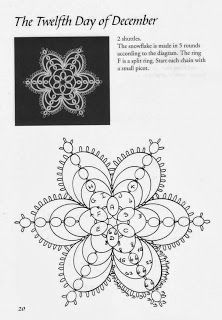 24 Snowflakes with pattern charts : 24 Snowflakes in Tatting by Lene Bjorn. Complete book with 24 snowflake pattern charts uploaded !