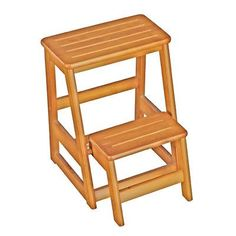 Found it at Wayfair - Folding Compact 2-Step Wood Step Stool