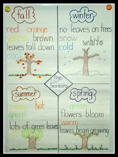 Today In First Grade: Learning About the Seasons