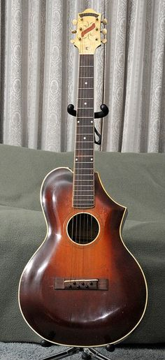 Epiphone Recording E Guitar - Epi Serial # 94, stamped on the block . . . made in New York City, circa 1930