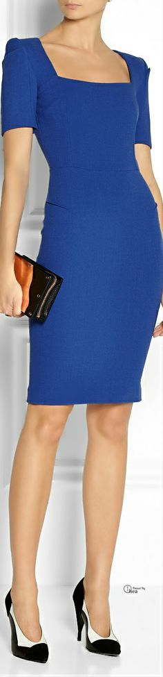 Royal Blue Sheath Dress and Blue High Heels