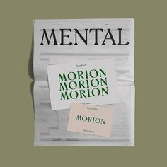 """309 Likes, 2 Comments - SP-GD (@studiospgd) on Instagram: """"Mental as Morion Typface by @tdfoundry"""""""