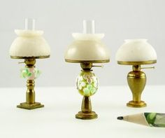 How-to miniature dollhouse oil lamp from polymer clay + marble (optional) Source: Sue Hauser
