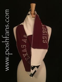 A personal favorite from my Etsy shop https://www.etsy.com/listing/259962262/texas-am-university-infinity-scarf