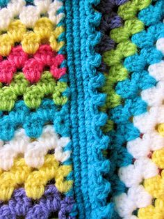 picot edge for granny stripe blanket