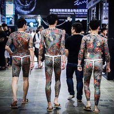 Tattoo Japanese Style, Japanese Tattoos For Men, Japanese Dragon Tattoos, Japanese Sleeve Tattoos, Full Body Tattoo, Body Tattoos, Tatted Men, Mustache Men, Taiwan