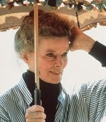 "Katharine Hepburn - still beautiful and classy for her last starring role in ""On Golden Pond"". #styleicon  #modcloth"