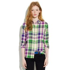 Another Madewell checked shirt!