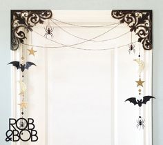 Weave a whimsical web this Halloween with our unique deco-dangler. This project easily and beautifully accents doors, windows, mirrors.