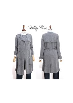 Handmade knitted trench coat Lambs wool knit coat by KnittingbyDB