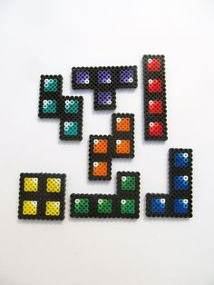 Tetris Perler Sprites - Complete Set Of 7. $7.00, via Etsy.