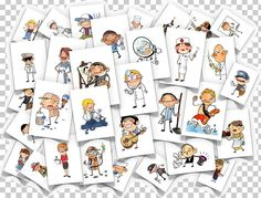 PDF of images for Métiers/Professions! French Teacher, Teaching French, Teaching Spanish, Teaching English, Teaching Resources, Job Images, French Classroom, French Resources, Community Helpers