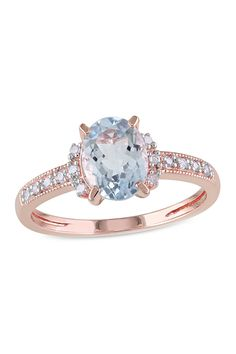 Two-Tone Aquamarine & Diamond Ring - Gift With Purchase on @HauteLook