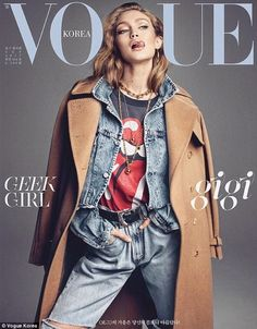 Gigi Hadid graces two covers of Vogue Korea | Daily Mail Online
