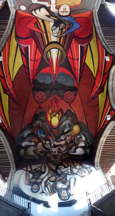 """Mural """"Patricios y Patricidas"""" (1945-1960) de David Alfaro Siqueiros, Secretaría de Educación Pública, Centro Historico, Ciudad de México ~ 107"""