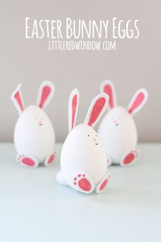 Easter Egg Bunnies. These are so precious! Easy to make and super cute!