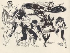 WOW.  X-Men jam art featuring John  Byrne, Paul  Smith, George  Perez,  Bill Sienkewicz, and Bob Wiacek.
