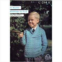 Patons & Baldwins child's roll collar sweater DK vintage knitting pattern 294 on eBid United Kingdom
